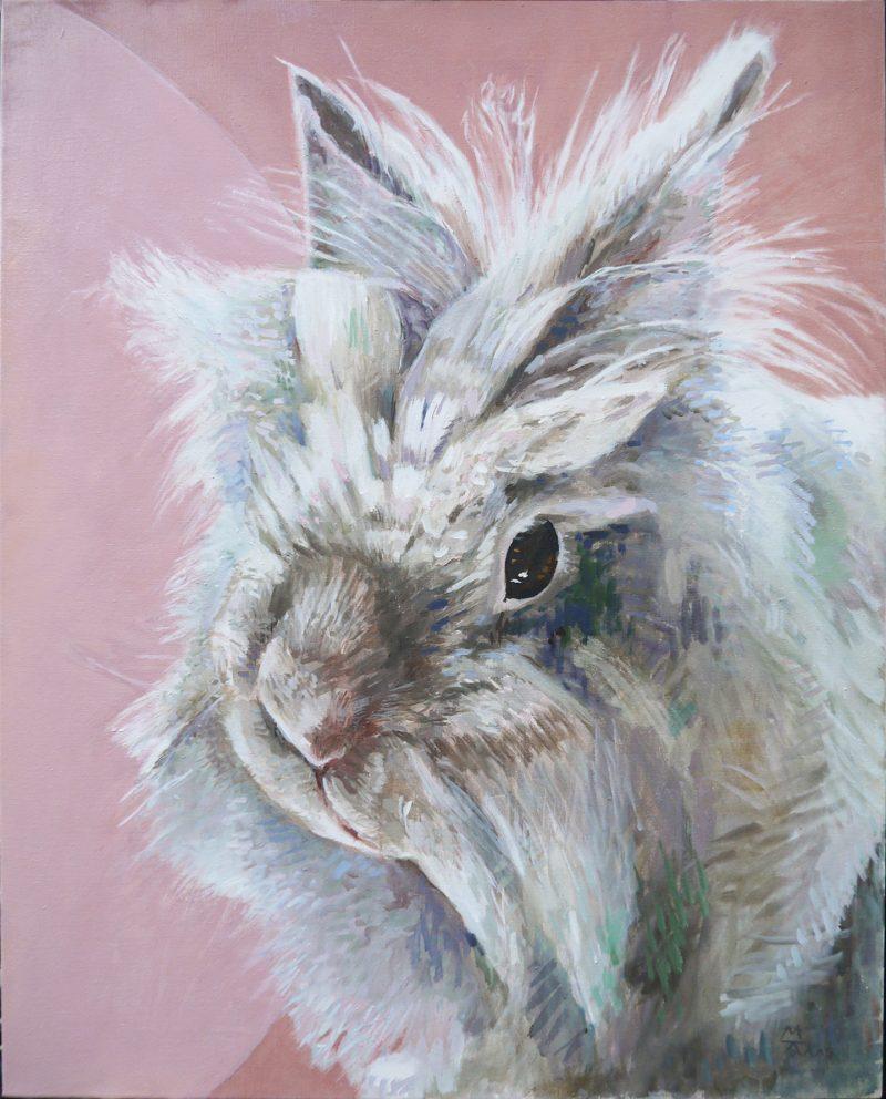 portret konijn